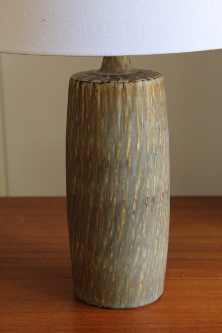Mid-Century Modern Gunnar Nylund, Sizable Table Lamps, Glazed Stoneware, Rörstand, Sweden, 1950s
