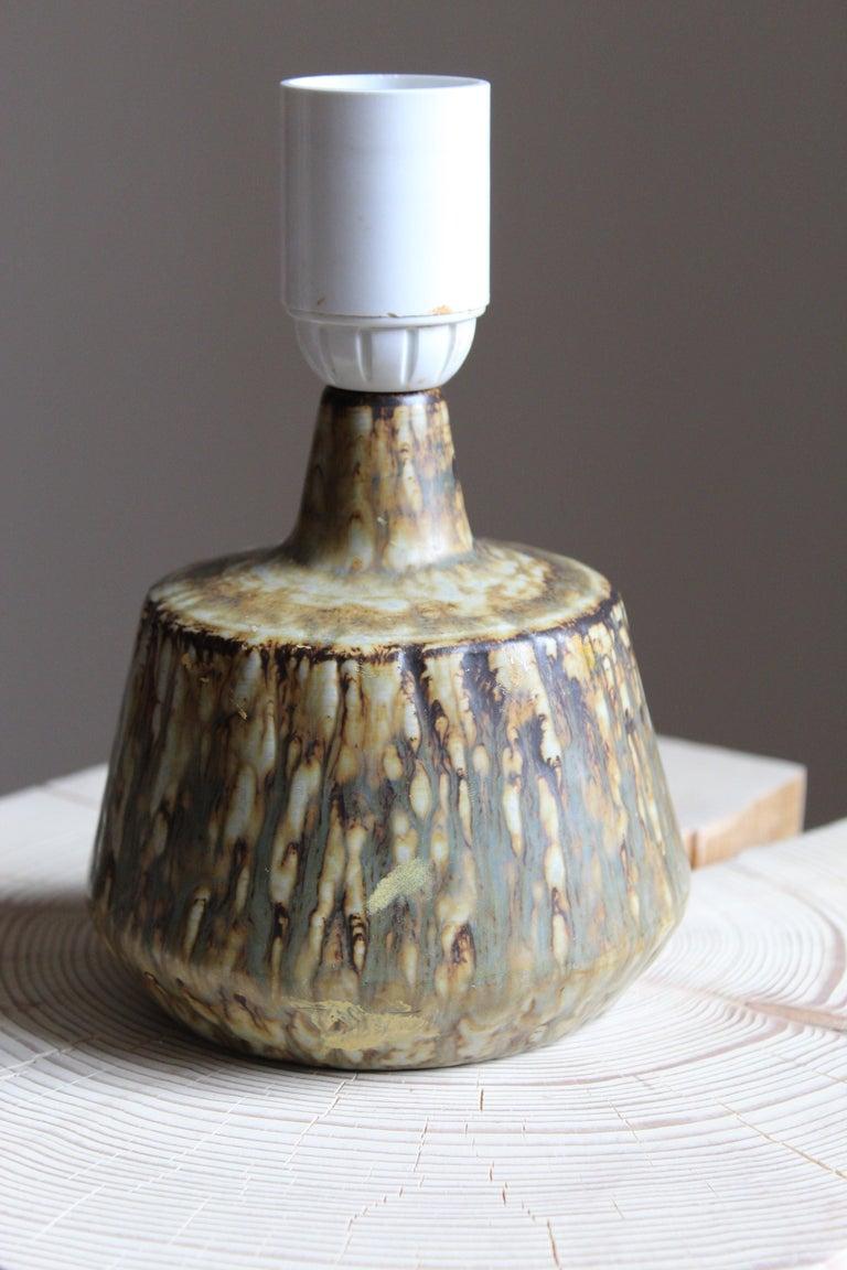 European Gunnar Nylund, Table Lamp, Glazed Stoneware, Rörstand, Sweden, 1950s For Sale