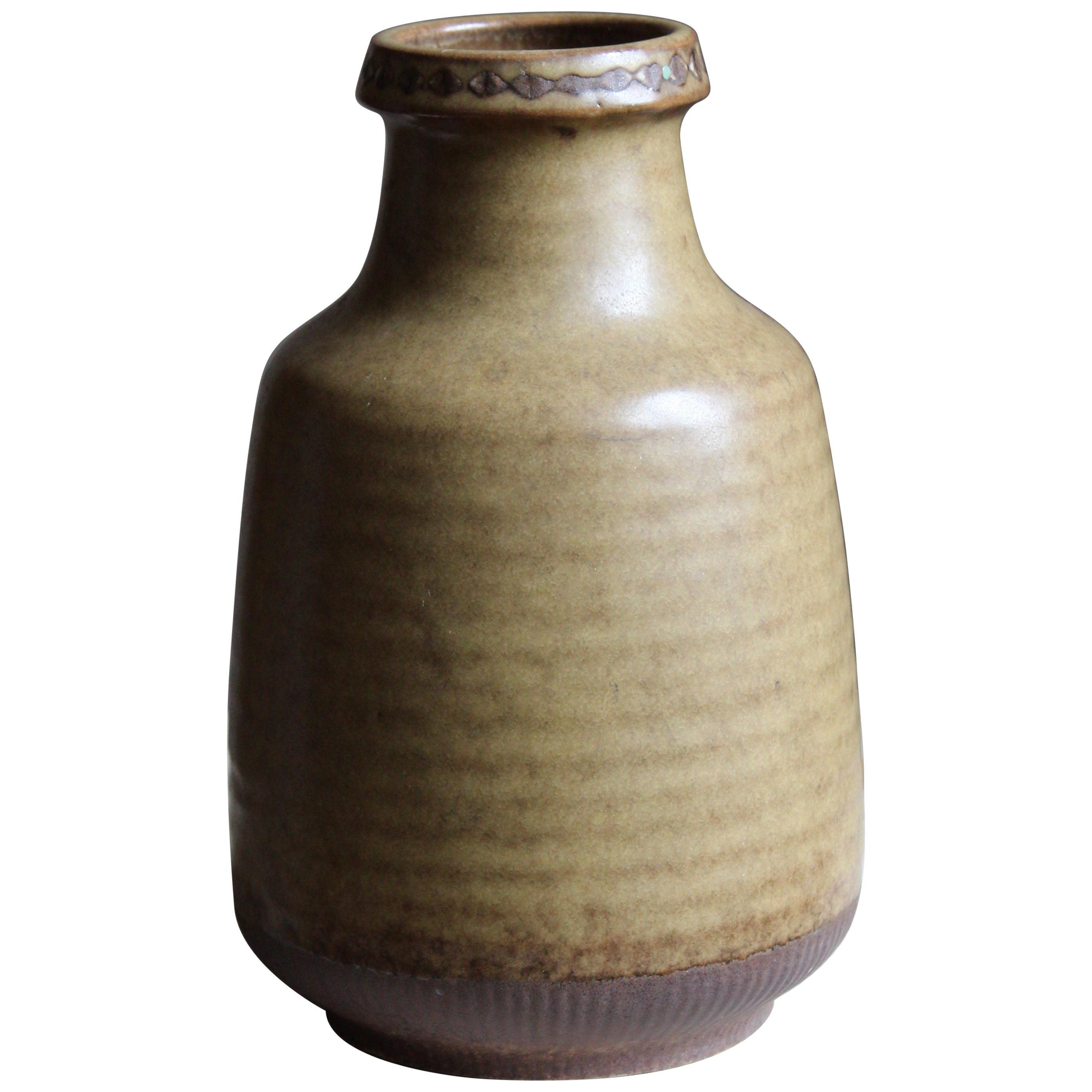 Gunnar Nylund, Vase, Glazed Stoneware, Rörstand, Sweden, 1940s