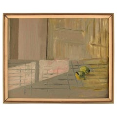 Gunnar Persson, Swedish Artist, Oil on Board, Modernist Still Life