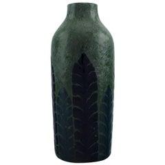 Gunnar Wennerberg for Gustafsberg, Antique Unique Vase in Glazed Ceramics, 1905