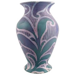 Gunnar Wennerberg for Gustavsberg, Antique Unique Art Nouveau Vase, 1902