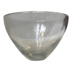 Gunnel Nyman Glass Bowl with Air Bubbles, Finland, 1940s