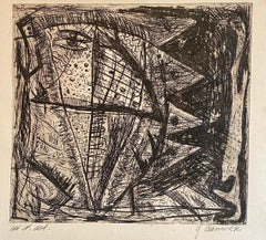Austrian Junge Wilde Abstract Etching Hand Signed, Neo Expressionist Art Print