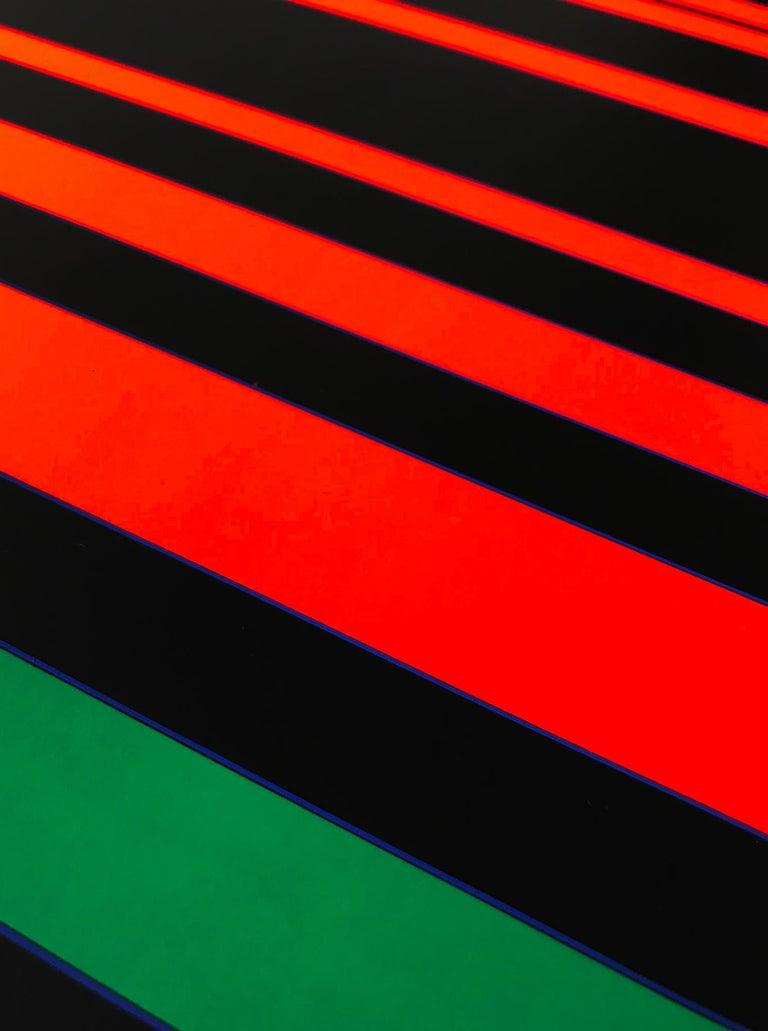 Between Green (Zwischen Grün), Screenprint, Geometric Abstract Art, 20th Century - Print by Gunter Fruhtrunk