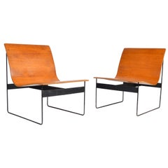 Günter Renkel for Rego Bentwood Lounge Chairs, Germany, 1959