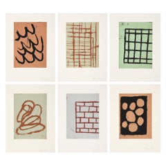 Untitled (Griffelkunst Suite) // 6 Etchings // Abstract Art // 20th Century