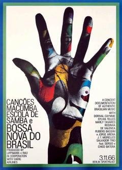 Gunther Kieser Bossa Nova do Brasil poster 1966