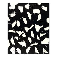 Lichtungen II, Woodcut, Abstract Art, Zero, Minimalism