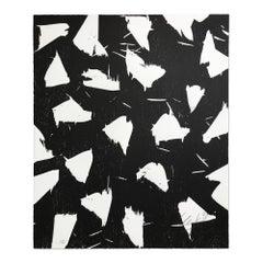 Lichtungen III, Woodcut, Abstract Art, Zero, Minimalism