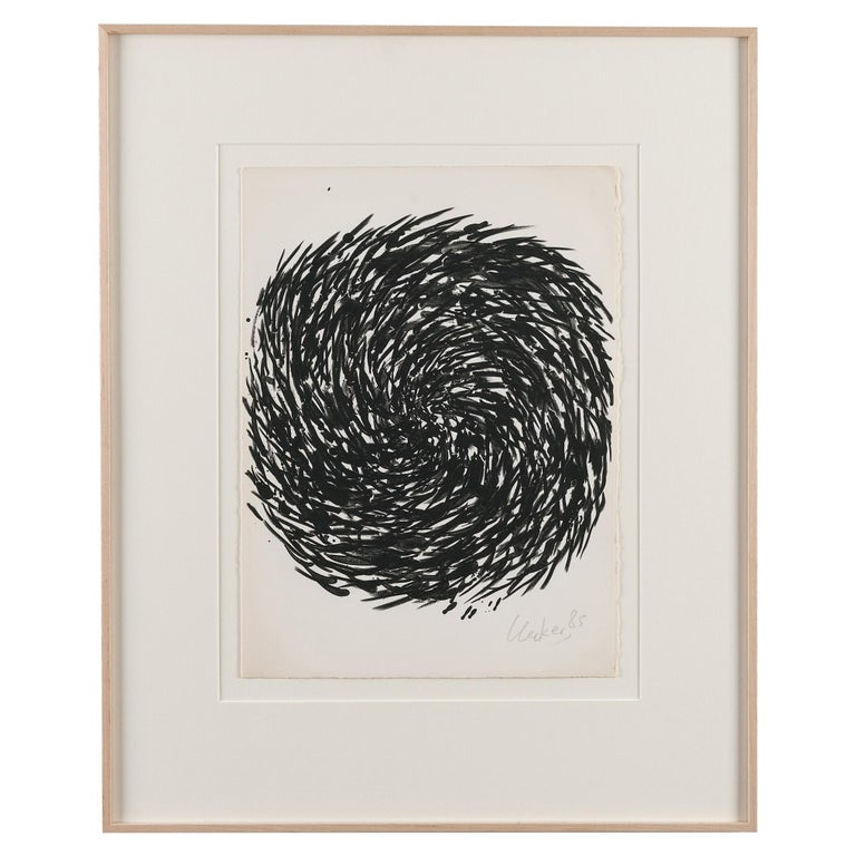 Günther Uecker Spiral, Original Lithograph, Signed and Numbered