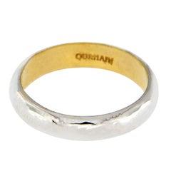 Gurhan 18 Karat White Gold and 24 Karat Yellow Gold Galahad Band Ring