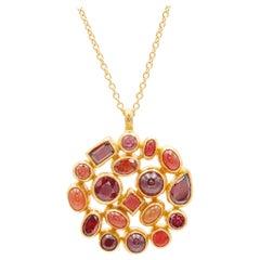 GURHAN 22-24 Karat Yellow Gold Garnet, Carnelian, Opal, Ruby, Sapphire Pendant