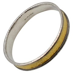 Gurhan 22 Karat and Sterling Silver Hammered Bangle Bracelet