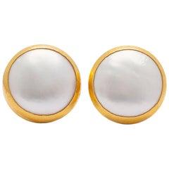 Gurhan 22 Karat Gold and Pearl Earrings