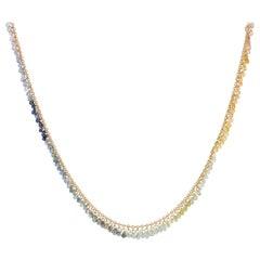 Gurhan 22 Karat Yellow Gold Rainbow Sapphire Briolette Necklace