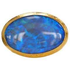 Gurhan 24 Karat Australian Opal Ring