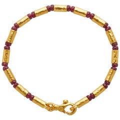 Gurhan 24 Karat Gold Ruby Beaded Bracelet