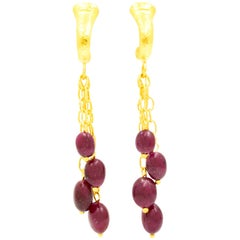 Gurhan 24 Karat Gold Ruby Drop Earrings