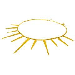 Gurhan 24 Karat Gold Sunray Necklace