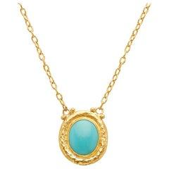 Gurhan 24 Karat Gold Turquoise Necklace
