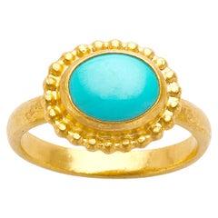 Gurhan 24 Karat Gold Turquoise Ring