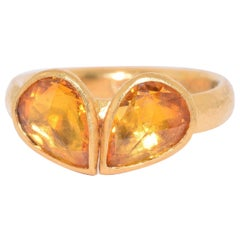 Gurhan 24 Karat Yellow Gold Citrine Ring