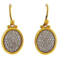 Gurhan Amulet Gold Diamond Drop Earrings