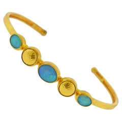 Gurhan Amulet Hue Gold Opal Cuff Bracelet