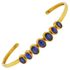 Gurhan Amulet Hue Gold Sapphire Cuff Bracelet