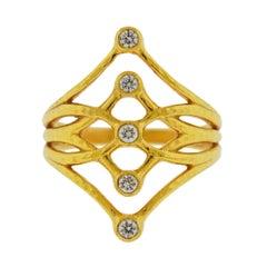 Gurhan Delicate Diamond Gold Ring