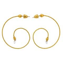 Gurhan Dew Swirl Gold Diamond Briolette Earrings