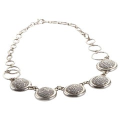 Gurhan Diamond Platinum Pave Discs Necklace