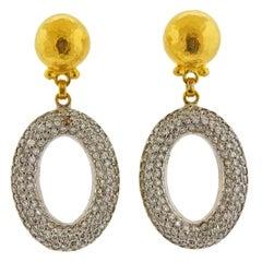 Gurhan Galahad Gold Diamond Drop Earrings