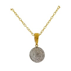Gurhan Lentil Gold Diamond Pendant Necklace