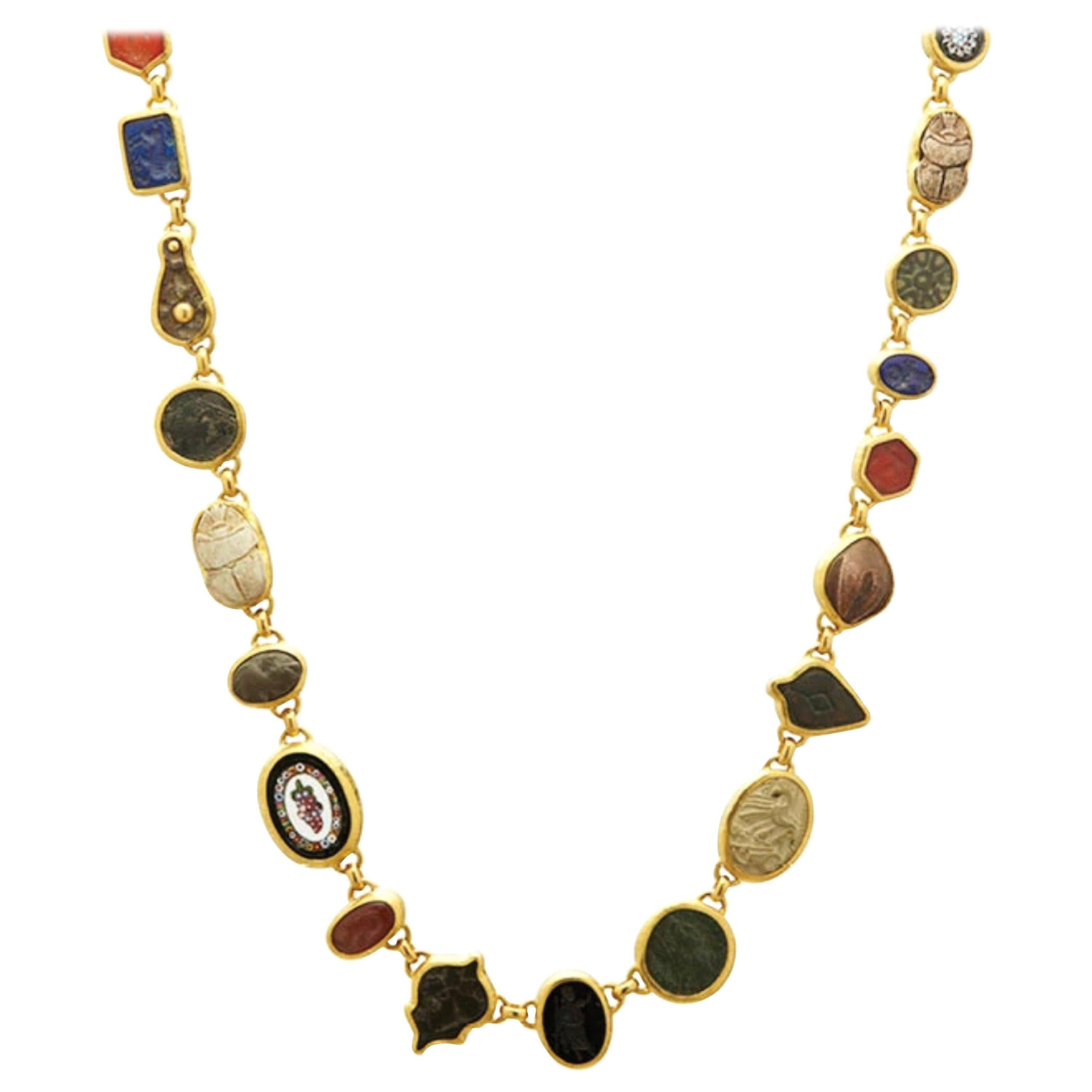 Gurhan One of a Kind Antiquities Necklace in 24 Karat Yellow Gold
