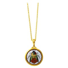 Gurhan One of a Kind Mosaic Pendant Necklace in 24 Karat Yellow Gold