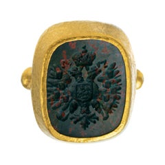 Gurhan One of a Kind Two-Headed Eagle Intaglio Ring