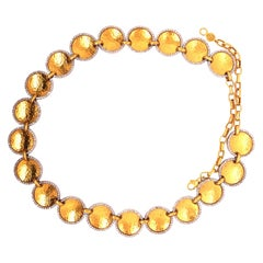 Gurhan Yellow Gold and Diamond Lentil Necklace