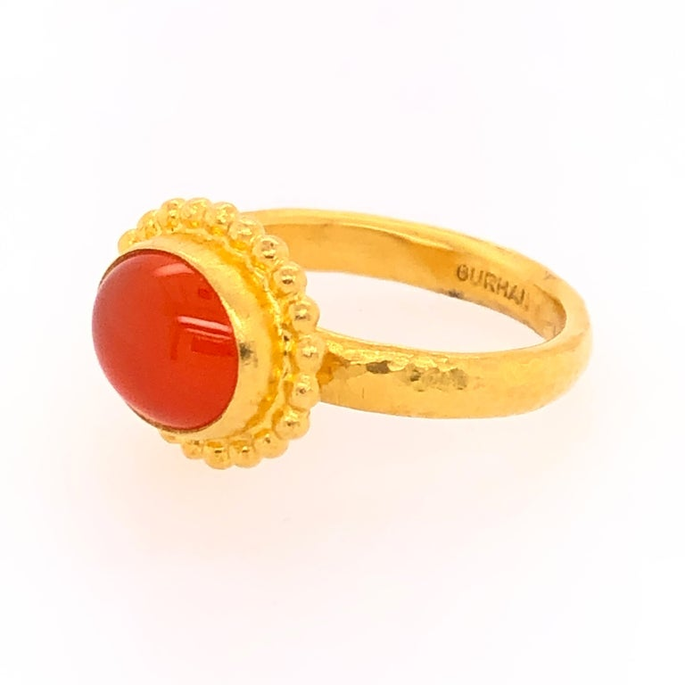 Gurhan Yellow Gold Fire Opal Ring In Good Condition In Dallas, TX