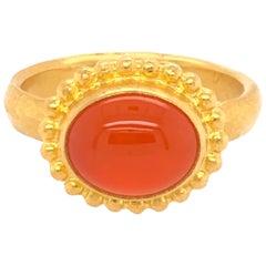 Gurhan Yellow Gold Fire Opal Ring