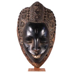 Guro Face Mask Ivory Coast West African Tribal Art