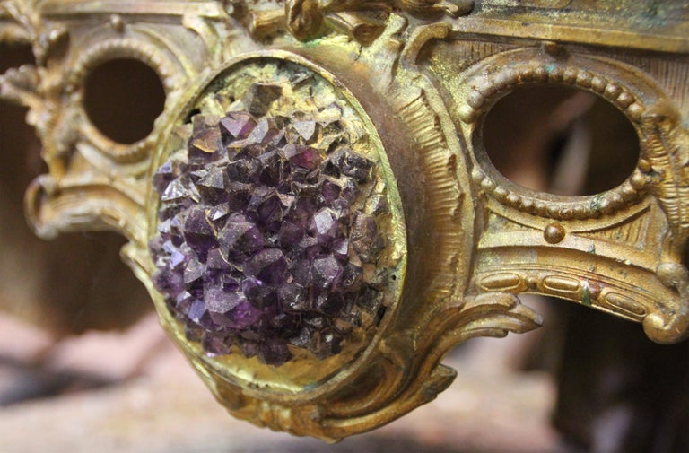 Guru High Armchair with Amethyst and Citrine Stone For Sale 3