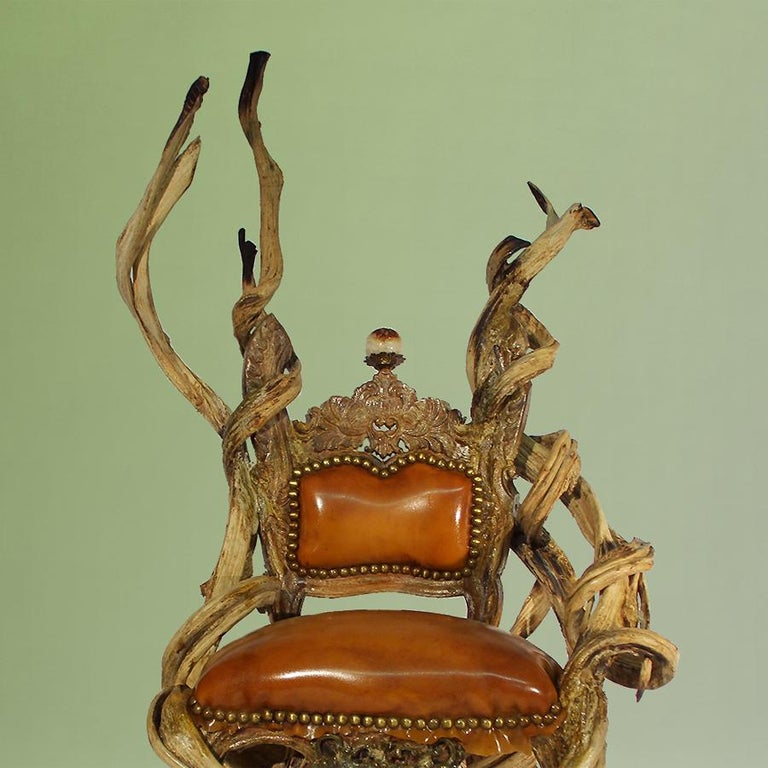 Guru Latex Armchair with Amethyst and Citrine Stone In New Condition For Sale In Paris, FR