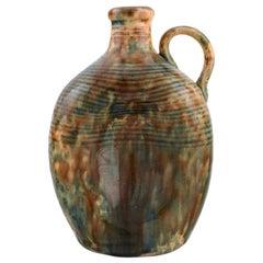 Gustaf Johnn for Höganäs, Antique Art Nouveau Jug in Glazed Ceramic