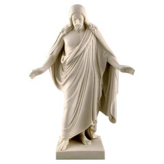 Gustafsberg / Gustavsberg, Sweden, Figure of Christ in Biscuit, Dated 1907