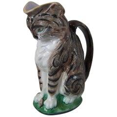 Gustafsberg Majolica Tabby Cat Jug