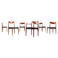 Gustav Bahus Bambi Danish Solid Teak Dining Chairs