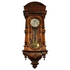 Gustav Becker Wall Clock, 1895