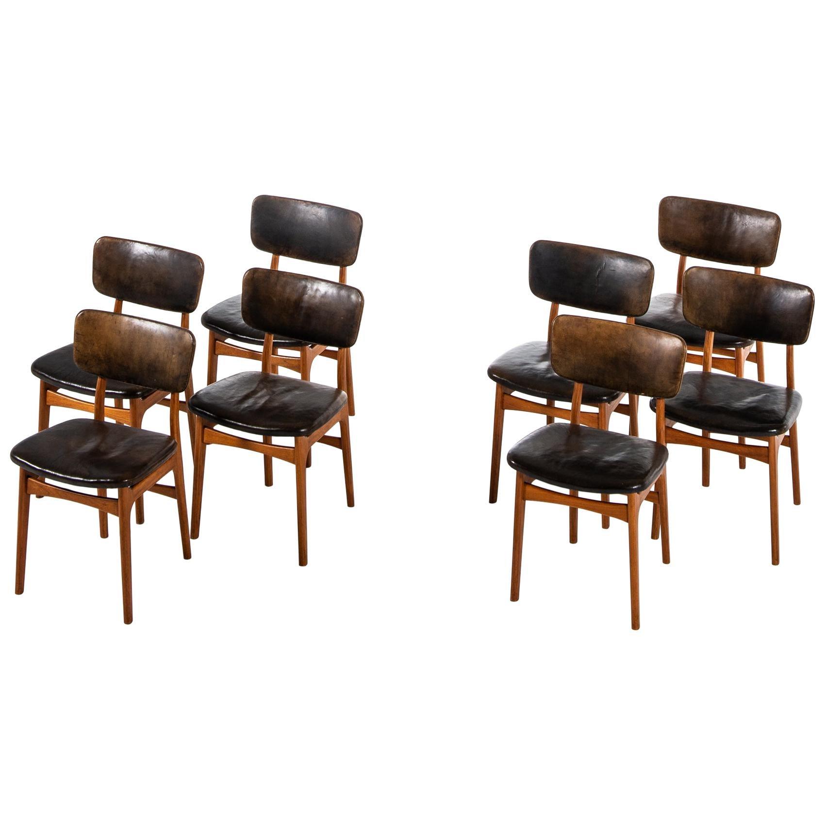 Gustav Bertelsen Dining Chairs Produced by Gustav Bertelsen in Denmark